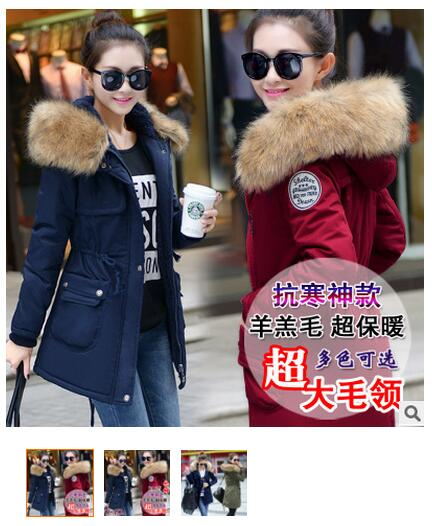 Camperas Mujer Invierno Cotton-padded Long Slim Design Women Down Coats