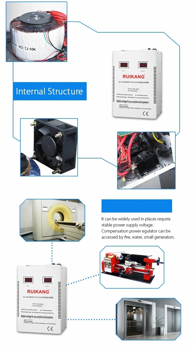 Automatic Svc 10000W Single Phase Voltage Stabilizer
