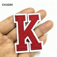 custom your own alphabet embroidery letter patch for clothing