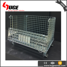 Evergreat Collapsible Pallet Wire Mesh Storage Cages With Wheels