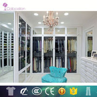 Classic style portable solid wood cupboard wardrobe