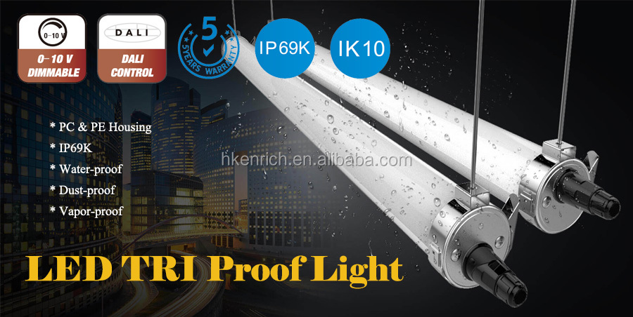 Corrosion-proof IP69K LED Light Fixture for Food Factory