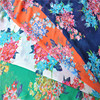 Muti-color woven plain weave flower chiffon print fabric for cloth