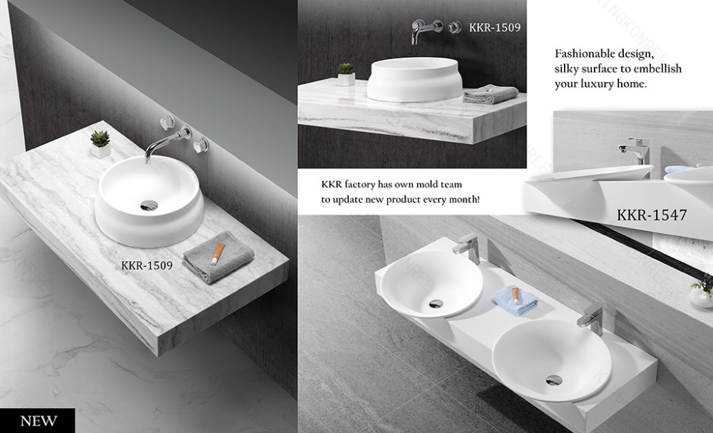Molds And Arts Hand Wash Basin Solid Surface Bathroom