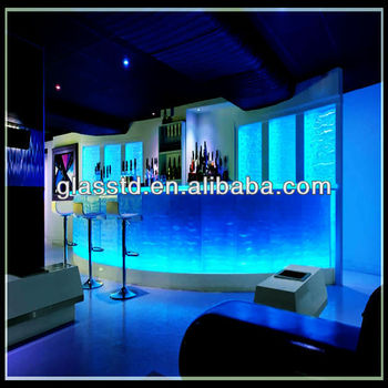 Lighted Textured Glass Backlit Onyx Bar Tops For Sale