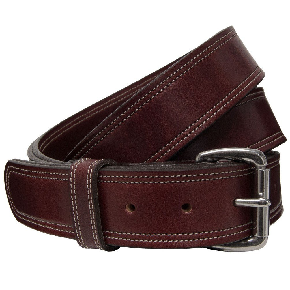 "Hanks Premier CCW Belt - 17 Ounce DOUBLE THICK LEATHER Concealed Carry Gun Belt - 1.5"" USA Made - 100 YEAR WARRANTY"