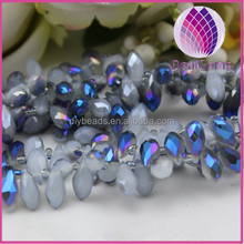 fashion top-drilled tear drop crystal beads strands
