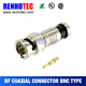bnc connectors coaxial rg58 cable connector made of zinc alloy body