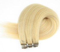 Ombre 8-22 inch Brazilian silky straight wave ombre blonde Color Hair Extension