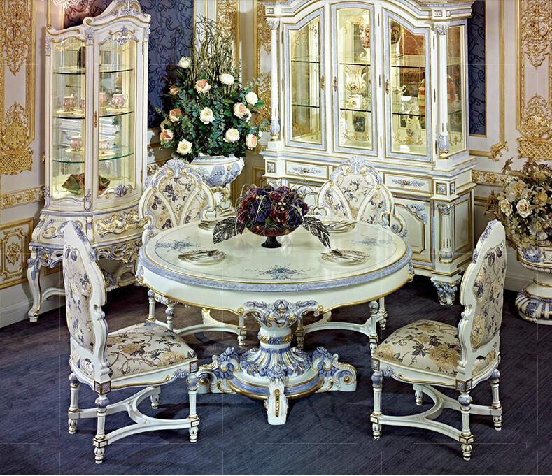 Superb Bisini Luxury French Style Round Dining Table Set View Dining Room Furniture Bisini Product Details From Zhaoqing Bisini Furniture And Decoration Beutiful Home Inspiration Xortanetmahrainfo