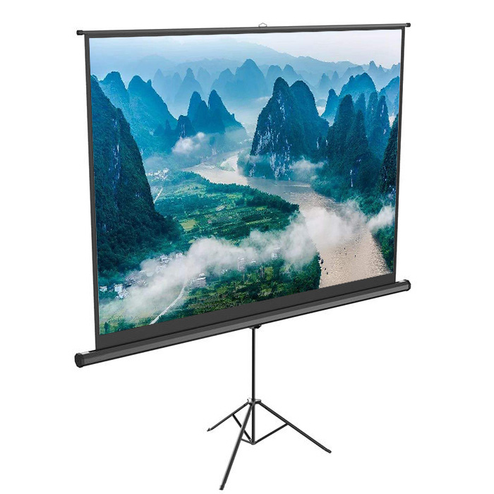 factory direct selling hot sales product mobile tripod projection screen