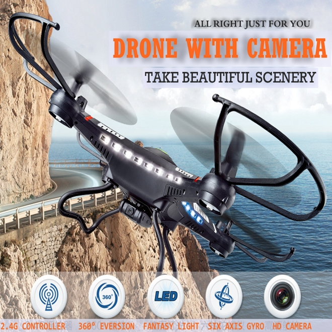 JJRC H8c Rc Drones With 2MP Camera Flying Helicopter Radio Control Dron Rc Quadcopter Professional Drones