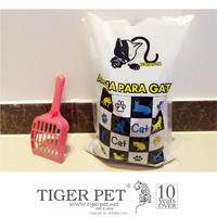 cat litter sand made with 100% Russian natural wild forest pine wood