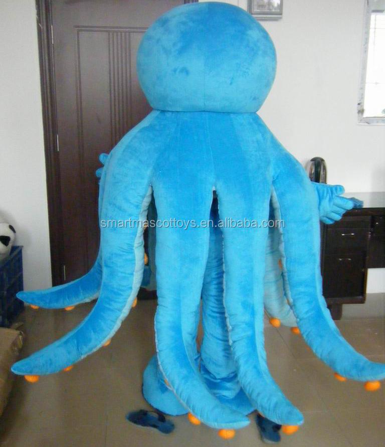 gute visuelle blaue krake oktopus maskottchen maskottchen kost m f r erwachsene maskottchen. Black Bedroom Furniture Sets. Home Design Ideas