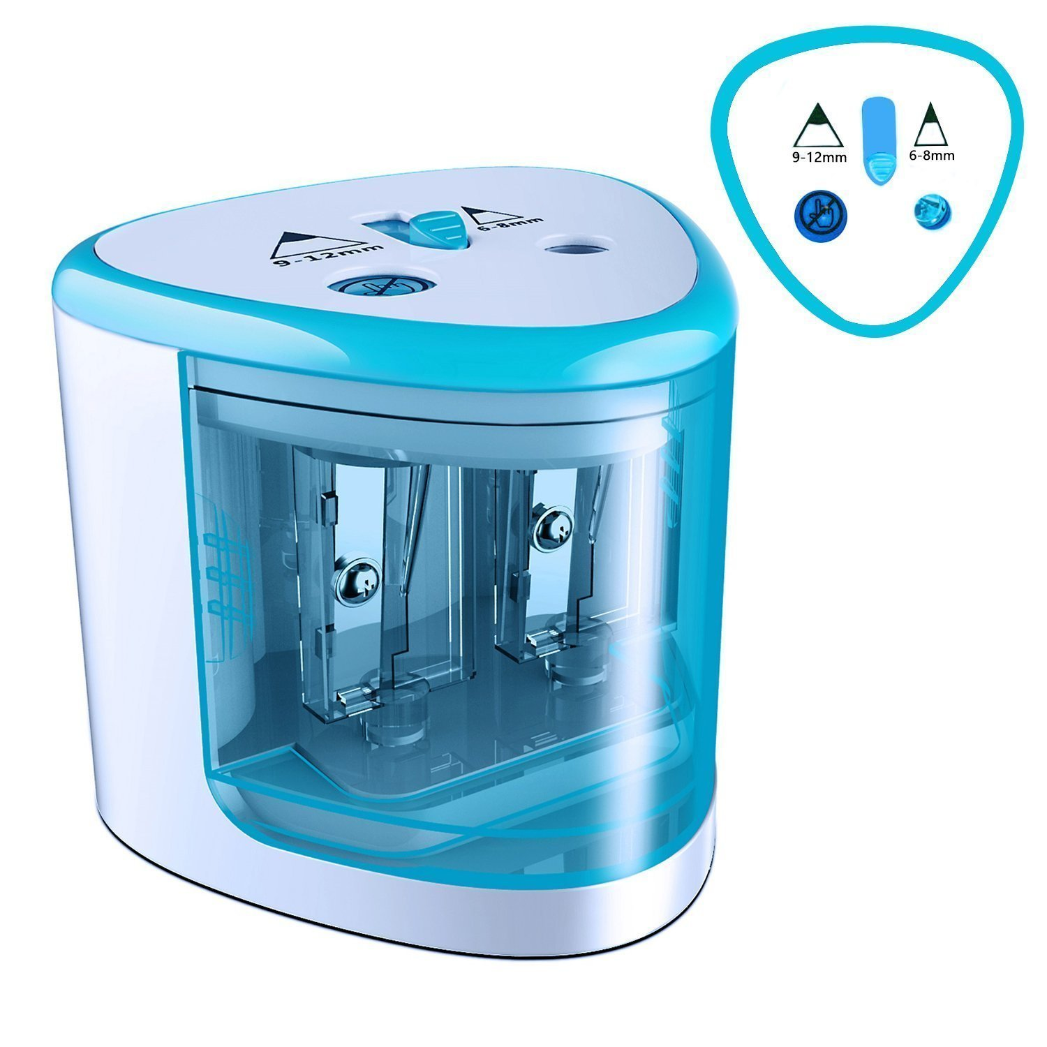 Electric Pencil Sharpener Heavy duty Blades Durable and Portable Pencil Sharpener with Automatic Sharpens for Kids, Adults, Artists, Pencil Sharpener Electric