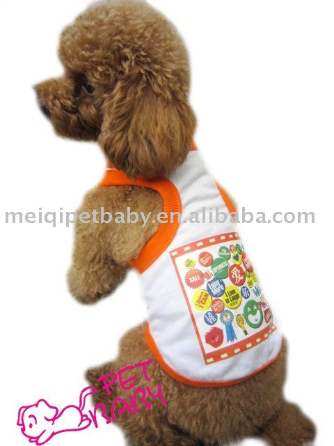 Japanese style ,sleeveless t-shirt for pet dog clothes