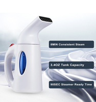 2018 Mini Portable Handheld Garment/Clothes/Fabric Electric Iron Steamer for Home & Travel, Steam/Soften/Sanitize/Remove Wrinkle