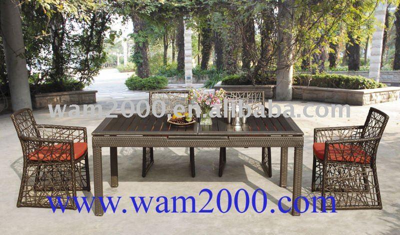 table dinante et chaises extensibles en bois en plastique de jardin outils de jardin id du. Black Bedroom Furniture Sets. Home Design Ideas