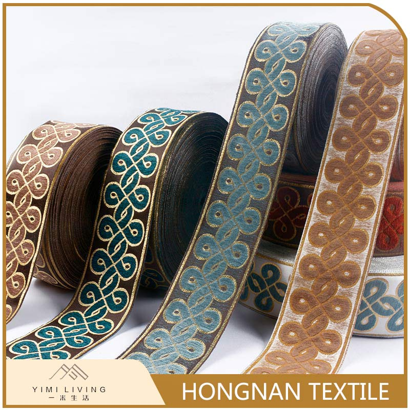 Designer manufactory wholesale classical woven jacquard ribbon trim