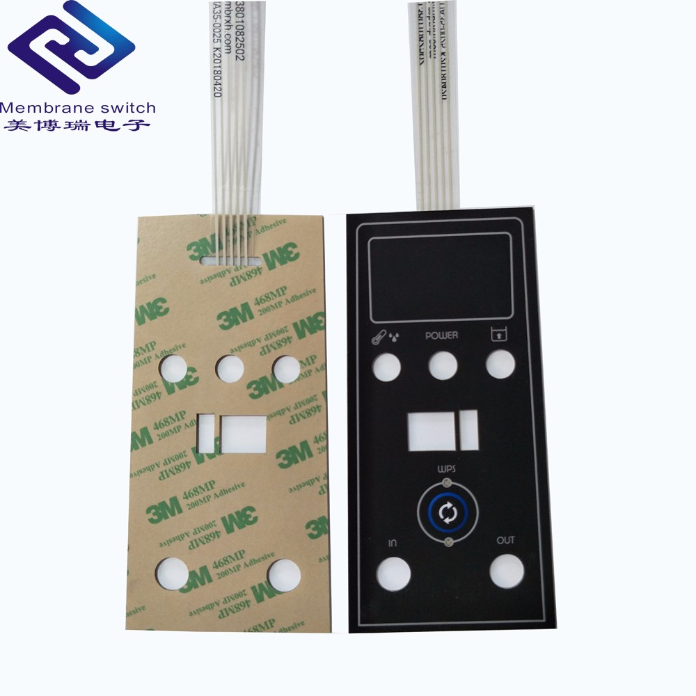 China Factory Brand Custom Colorful Membrane Switch Keypad For Matrix TV Remote Controller