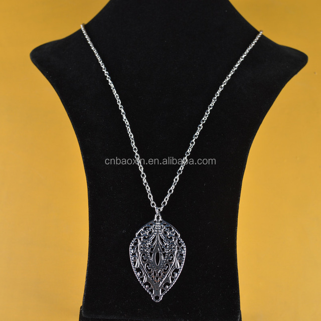 gallerychitrak chain silver org whole leaf necklace necklaces wholesale wallpaper long irregular unique tone ring chains