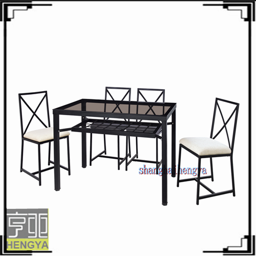 malaysia wrought iron wood dining table sets