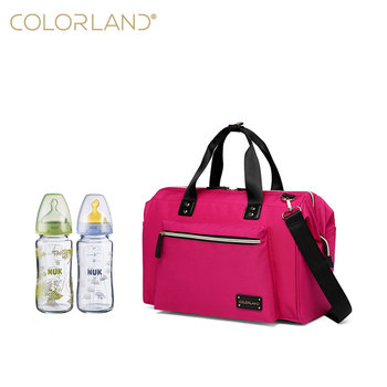 COLORLAND Low MOQ Multi-colour Of Mummy Diaper Bag Changing Bag For Outdoor
