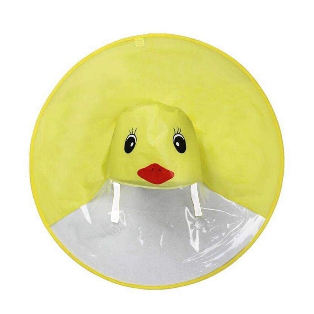 8ccf2d74d1797 Get Quotations · Wenini Kids Raincoat Cute Yellow Duck UFO Raincoat  Children s Hooded Poncho Cloak