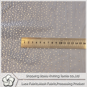 Latest Glitter Fancy Polyester Mesh Fabric For Party Dress