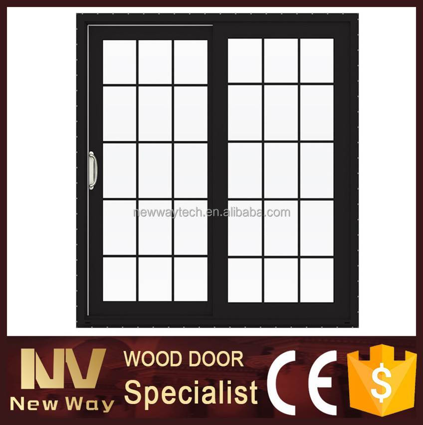 Exterior de doble puerta de vidrio decorativo / usado corrediza de ...