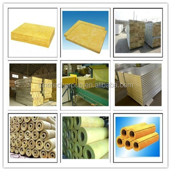 High density rock wool products equipment with ce for High density mineral wool