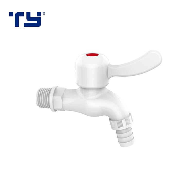 Plastic Saving Cold Water Wall PVC Tap Mount Washing Machine Faucet