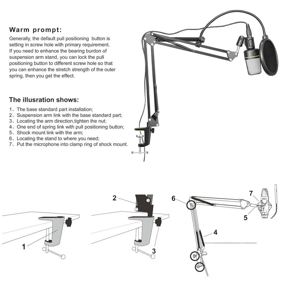 Professional flexible microphone arm stand NB-37