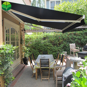 Outdoor full cassette portable motorized awnings aluminium waterproof retractable awning for balcony