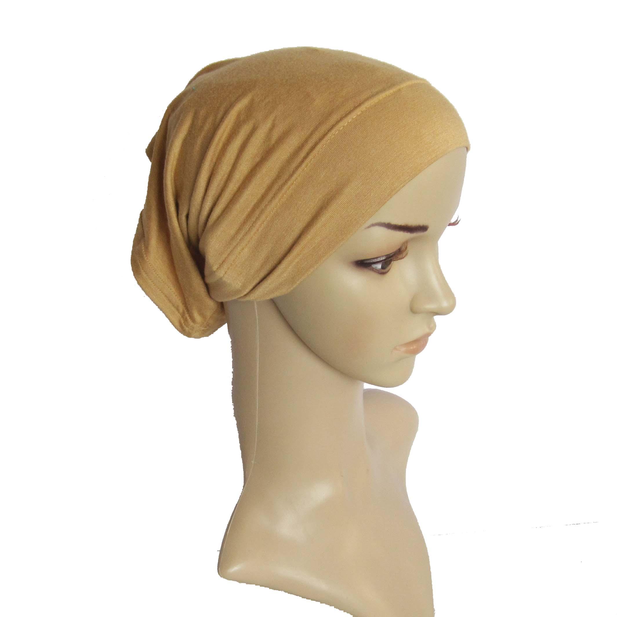 Islamic Clothing New Leopard Print Women Turban Hats Muslim Fashion Womens Hijabs Cotton Cover Inner Hijab Cap Islamic Head Wear Hat Under Scarf Shrink-Proof