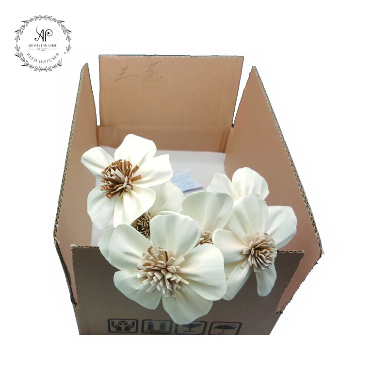 Stocked and Retail handmade 6pcs/box orchid wooden artificial <strong>flowers</strong>
