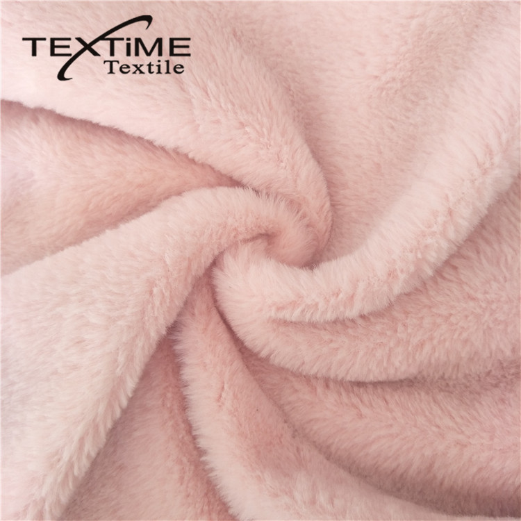 Attractive Design Suede Bonded Faux Rabbit Poly Fur Fabric On Sale