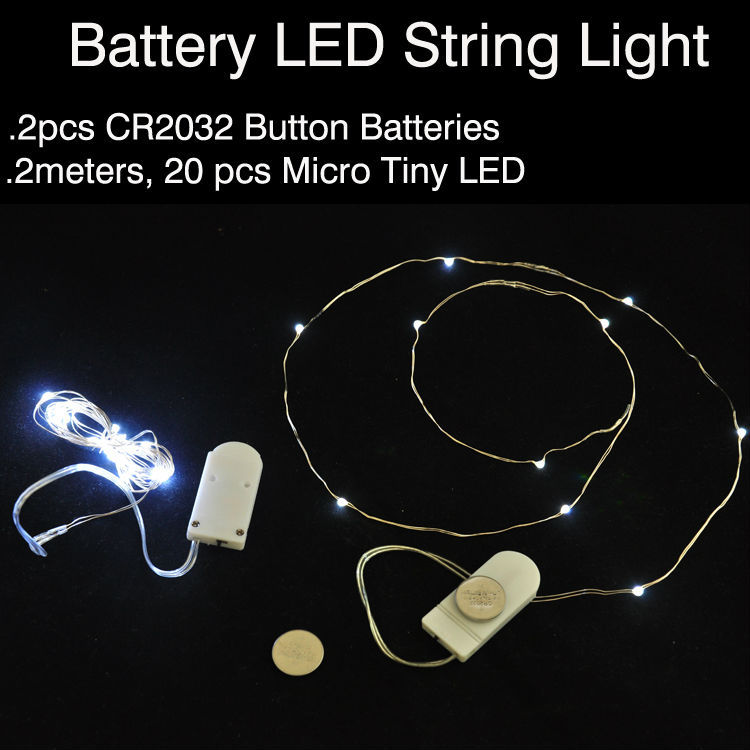 Wholesale Fairy Led String Lights Battery Operated 4ft 10 Leds Mini