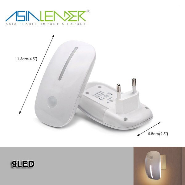 F' Energy Saving Children Nursery Baby Safety Light Sensor Plug In Night Light