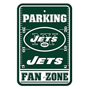 "New York Jets NFL ""Fan Zone"" Parking Sign 12"" x 18"""