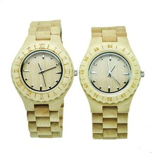 New products 대 한 Christmas gift, original 나무 natural color relogio masculino bamboo 나무 watch