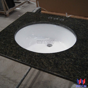Various dark green kitchen countertop/ Ubatuba granite countertop and vanity top