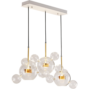 2018 modern style round glass bubble ball led pendant lamp led chandeliers light
