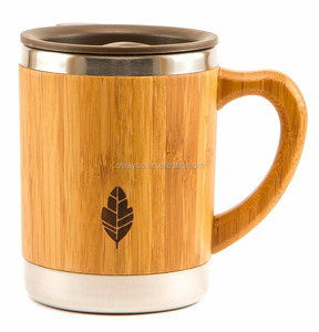 Custom 2018 high quality eco friendly bamboo thermal infuser unique travel coffee mug