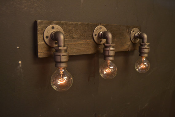 Industrial chic lighting Bedroom 6274 Farmhouse Reclaimed Wood Industrial Industrial Chic Bathroom Lighting Fixture Wall Ebay 6274 Farmhouse Reclaimed Wood Industrial Industrial Chic