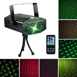 LED Laser Party Lights Projector Led Stage Lights Mini Auto Flash RGB Sound Activated for Disco DJ Party Home Show