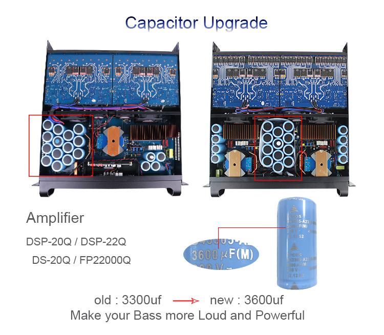 FP22000Q sound standard amplifier 5000 watts power amplifier professional karaoke amp for dual 18/21 inch subwoofer bass