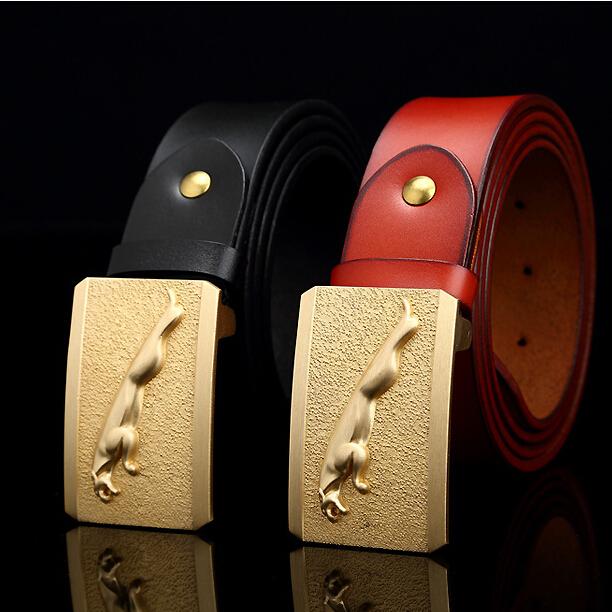 Jaguar Clothing Accessories: Belt 2016 Jaguar NEW Designer Automatic Buckle Men Leather