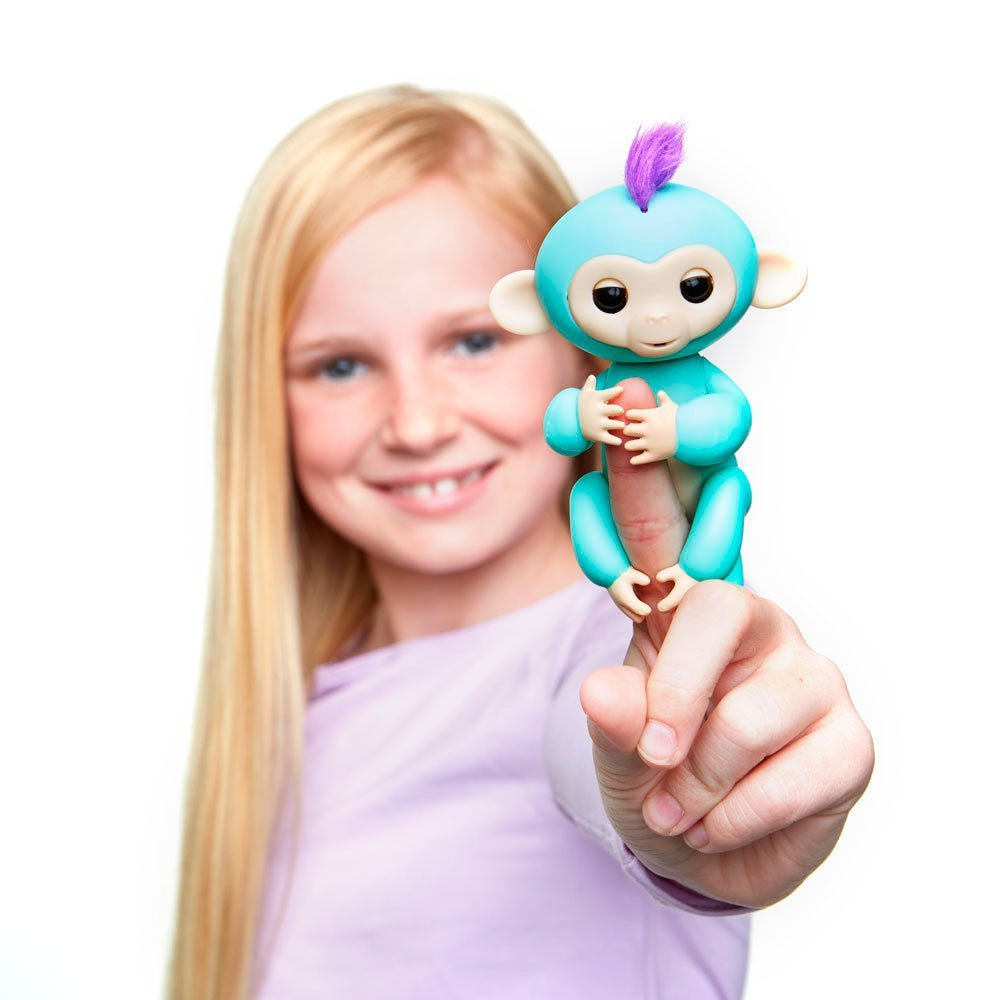 WowWee Fingerlings Mia Baby Monkey with Bonus Stand
