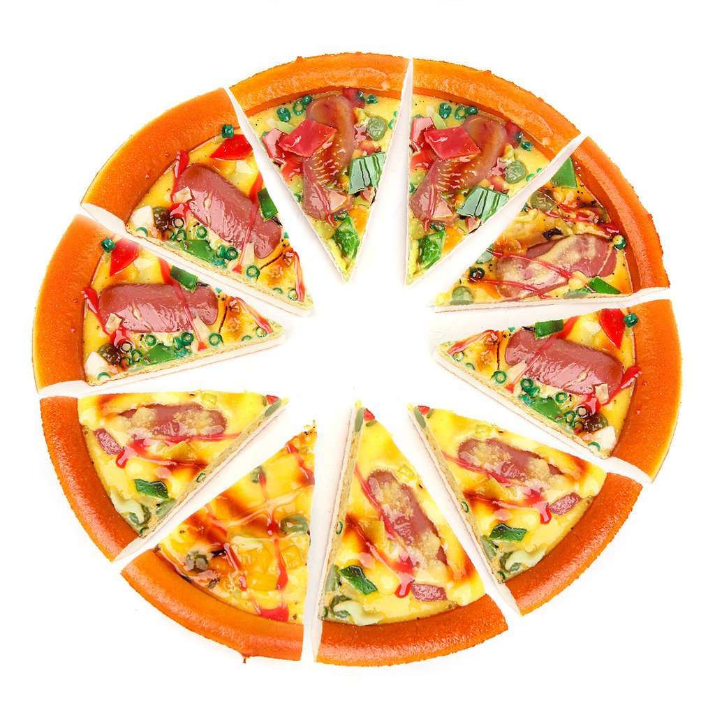 10 Piece Pizza Set for Kids Play Food Toy Set Great for a Pretend Pizza Party Fast Food Cooking Play Set Toy